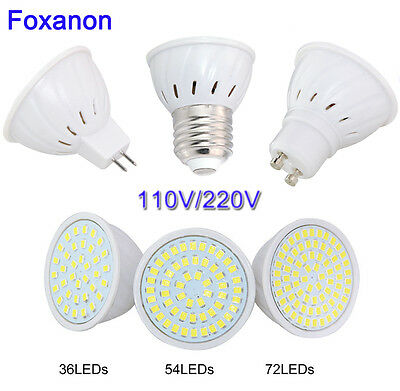 Spotlight E27 GU10 MR16 Led Bulb 4W 6W 8W Cool White / Warm 36/54/72 LED