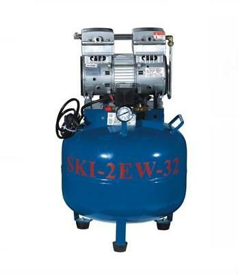 SKI-2EW one for two silent oil-free Noiseless oilless air compressor TK