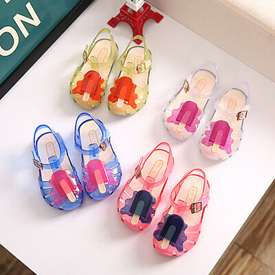 Summer Princess Cute Soft Flat Sandals Jelly Shoes Child Kids Girls Toddler Baby
