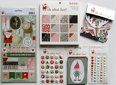 New Line- My Minds Eye [OH WHAT FUN!]  6x6 Paper & Embellishments (A) - Save 45%