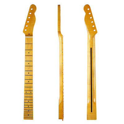 22 Frets Tiger Flame Maple Tele Guitar Neck Abalone Inlay for Telecaster