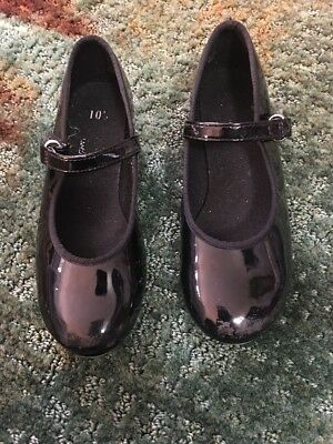 American ballet Theater Black Tap Shoes Girls Size 10