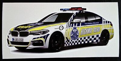 VICTORIA POLICE HIGHWAY PATROL BMW CAR STICKER DECAL 165x73mm