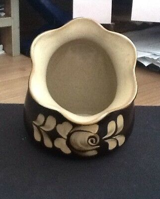 Denby Flat Backed Vase Or Small Planter