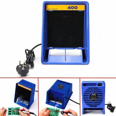 220V Solder Smoke Absorber Remover Fume Extractor Air Filter Fan For Soldering