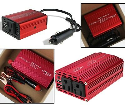 150W 300W Auto Power Inverter DC 12V to 230V AC Converter 2 USB Car Chargers