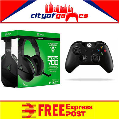 Turtle Beach Ear Force Stealth 700X Xbox One & Black XB1 Wireless Controller