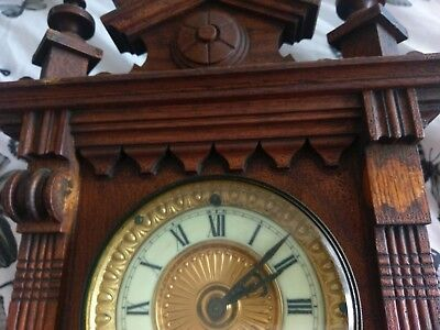 Antique clock, Salem Strike, 8 day, 1878 clock, ansonia new- york
