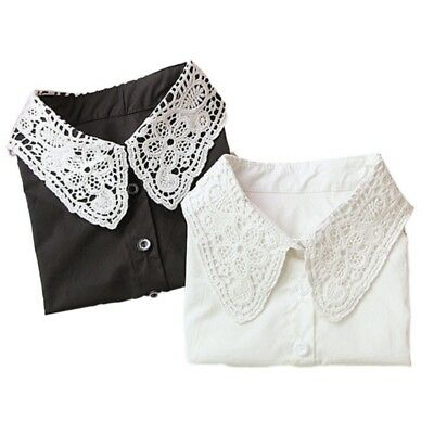 Women Lace Vintage Dickie Ladies Embroidery Lace Fashion Detachable False Collar