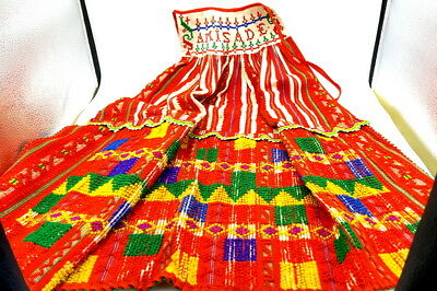 Portuguese 1920s Folk Art Costume ; Beaded and embroidered  Large Aprone  . Rare