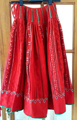 Portuguese 1920s Folk Art Costume ; Beaded and embroidered  Skirt . Rare