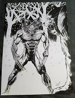 Wolverine Original Art by Wayne Hughes