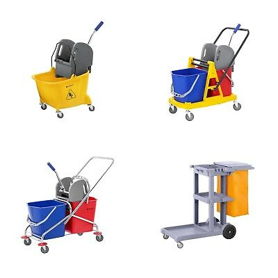 Mop Bucket Cleaning Trolley Industrial Cleaning Cart Hotel Janitor Supplies