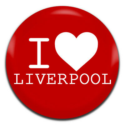 I Heart Liverpool Football Soccer 25mm / 1 Inch D Pin Button Badge
