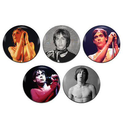 5x Iggy Pop Punk Rock Glam Stooges 25mm / 1 Inch D Pin Button Badges