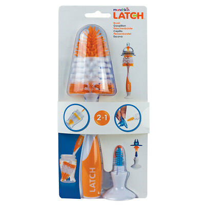 Baby Milk Bottle Teat Valve Brush Easy Clean Stand Latch Orange New