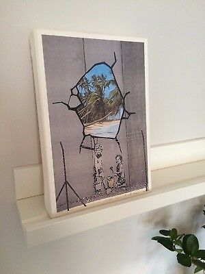 Banksy - Cracked Wall & Sandcastles  - Handmade canvas frame - photo print