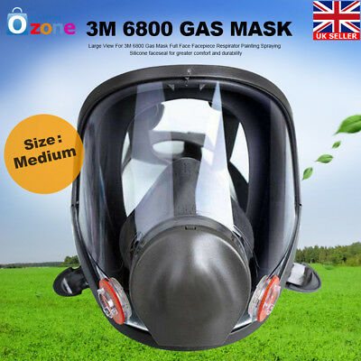 Gas Mask 3M 6800 Full Face CS Edition Perspiration Dust Facepiece Respirator New