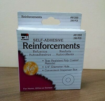 CLI Self-Adhesive Hole Reinforcements 200/box #91200 - NEW