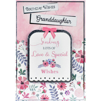 Granddaughter Birthday Card With Insert Birthday Wishes Happy