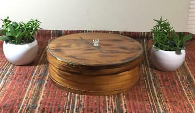 Vintage BLUM BROS Wisconsin Shaker Style Pine Wood Cheese Box Large