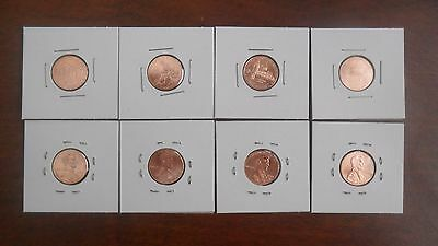 Complete Set Lincoln Bicentennial 2009 Cent Penny P & D - 8 UNCIRCULATED coins!