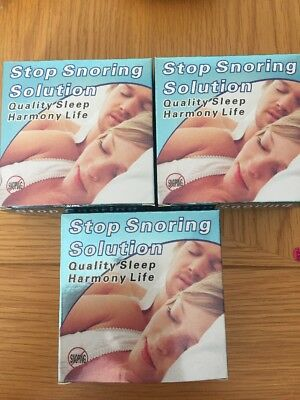 Pack Of 3 X Stop SNORING Solution MOUTH GUARD DEVICE SLEEP AID
