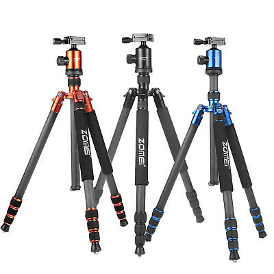 Professional Carbon Fiber Camera Tripod Travel Monopod Ball Head for DSLR Camera