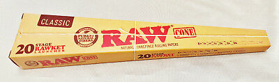 1 Raw Rawket Launcher 20 Stage 20 Cones Per Pack Pre Rolled Supernatural & More