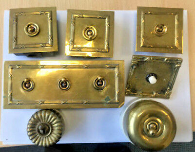 Antique brass and ceramic electrical switches