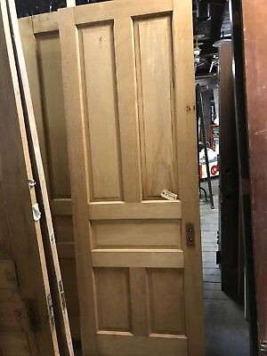 "Vintage Pine  Door Stripped Farm House Door 32"" X 90"" X 1 3/8"" Arch Salvage"