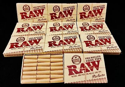 10X Raw Natural Unrefined Perfecto Pre-Rolled Cone Tips 21 Per Pack Free Ship