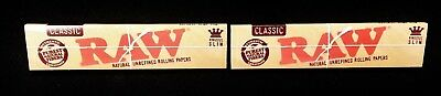2 Packs Raw Classic King Size Slim Natural Unrefined Rolling Papers Free Ship