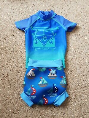 NEXT baby boys swimming top and happy nappy 6-9 months