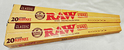 2 Raw Rawket Launcher 20 Stage 20 Cones Per Pack Pre Rolled Supernatural & More