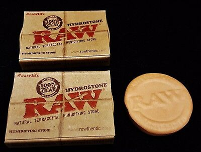 2 Raw Rolling Paper Hydrostone 100% Natural Terracotta Clay Humidifying Stone