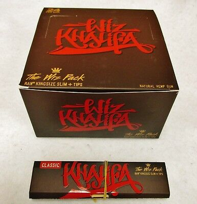 2pk New WIZ KHALIFA Raw King Size Slim Rolling Papers & Tips Limited Edition