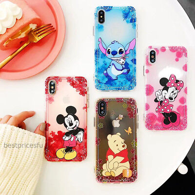 Disney Cartoon Soft Silicone Clear TPU Case Cover For iPhone 11 Pro Max X 8/7/6+