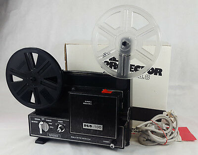 Dual 8 Cine Film Projector, Duo 100, Boxed With Instructions.