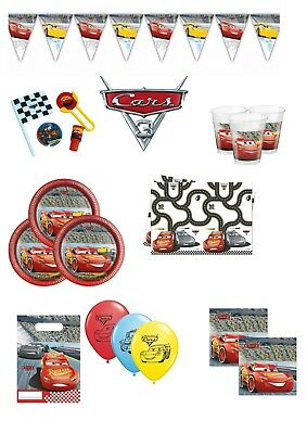 Disney Cars 3 Birthday Party Supplies Tableware Decorations Bags