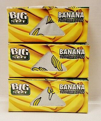 3 Boxes Juicy Jay's Big Size Banana 5 Meter Rolls Rolling Papers