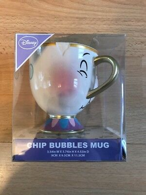 2018 Primark Disney Chip Mug Beauty And The Beast bubbles Cup 3D Disney Rare