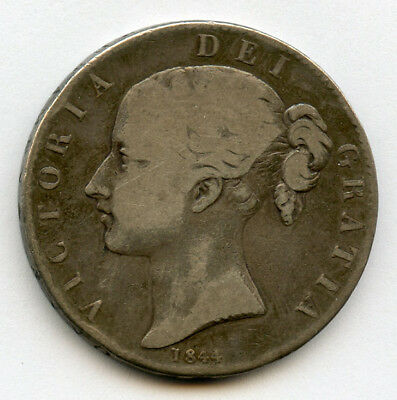 GREAT BRITAIN 1844 Qn.VICTORIA YOUNG HEAD CROWN,SCARCE LOW MINTAGE FINE.