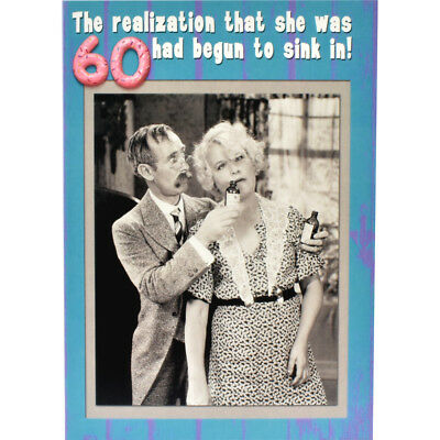 Funny 60th Birthday Card Happy Birthday Humorous Joke Rude
