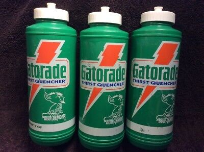 8bb82454b8a Vintage GATORADE Squeeze Water Bottle Green Retro Bolt Logo Lot Of 3 Blue  Demons