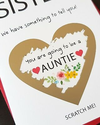 PREGNANCY ANNOUNCEMENT CARD for auntie sister brother mum dad bun in the  oven