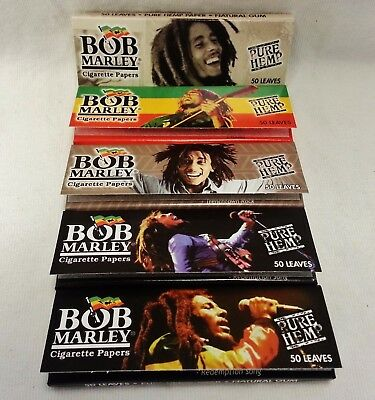 5 Packs Bob Marley 1 1/4 Cigarette Rolling Papers with Free Shipping