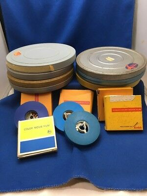 Lot 8mm Super 8 Movies 7 Inch Metal Reels Amateur Home Movies Unknown Content