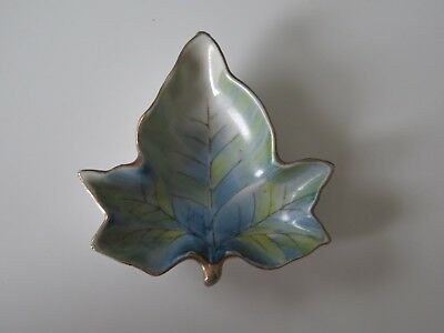 Vintage Shofu China Made In Occupied Japan Small Leaf Dish Candy Trinket