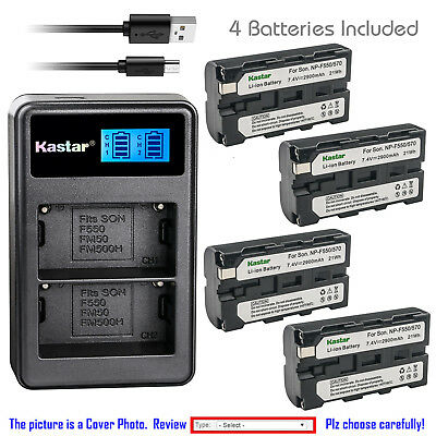 Kastar Battery LCD Dual Charger for Sony NP-F550 CCD-TR3100 CCD-TR3200 Camcorder